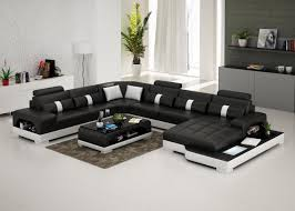 Leather And Microfiber Sectional Connie Sectional Sofa Leather Living Room Furniture Fancy