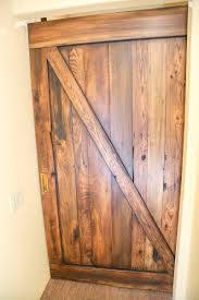 Distressed Barn Door by Distressed Tobacco Barn Brown Sliding Barn Door W Patina U0027d