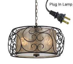 Lamps Home Decor Stylish Plug In Hanging Lamps H67 For Your Home Decor Ideas With