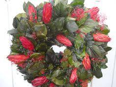 salal wreath autumn wreath pomegranates natural wreath elegant