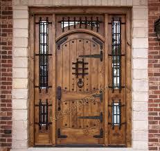 Wood Door Exterior Rustic Doors Exterior Alder Doors Arch Top Door