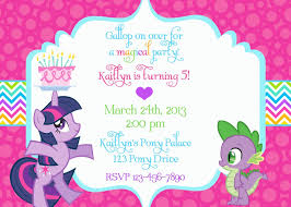 My Birthday Invitation Card My Little Pony Birthday Invitation Wording Party My Little Pony