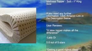 King Size Bed Topper Pure Green 100 Natural Latex Mattress Topper Soft 1