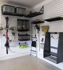 small diy overhead garage storage white wall added nice the room