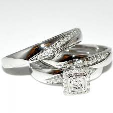 wedding trio sets wedding trio rings ring sets diamond wedding ring set 052ct