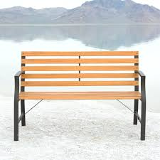 Wood Bench With Metal Legs 100 Wood Park Benches Curve Wooden Bench Royalty Free Stock