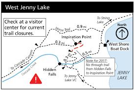 West Point Map Jenny Lake Renewal Project Grand Teton National Park U S