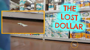 a dollar bill on the walmart floor social experiment youtube