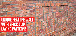 create a unique feature wall with brick slip bonding laying