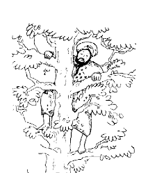 Jesus And Zacchaeus Coloring Page Cute Coloring Zacchaeus Coloring Page