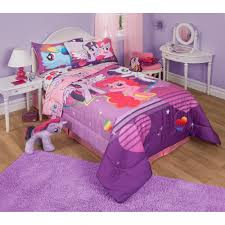 girls purple bedding my little pony twin full bedding comforter walmart com