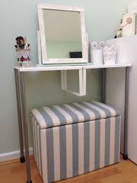 Ikea Vanity Table by Turn Variera Shelf Inserts Into A Gorgeous Dressing Table Ikea