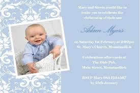 Christening Card Invitations Personalised Boy Photo Christening Invitations Design 8