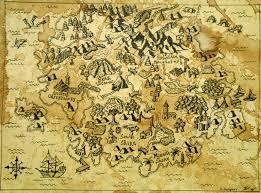 Ancient Map Fantasy Pirat Map Art Print Ancient Map Pirate Map Fantasy
