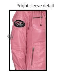 Harley Davidson Womens Pink Label Pink Leather Jacket 98090 15vw