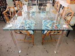 lucite dining table circa who