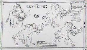 character sheets lion king