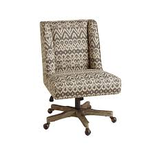 Armchair Upholstered Driftwood Ikat Ava Upholstered Office Chair Chairs Cost Plus World