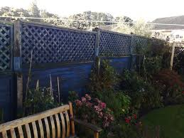 garden fence trellis slatted tops 6ft by 25ins tall in