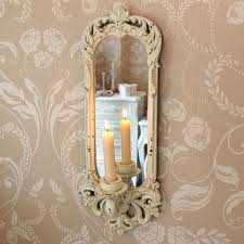 Mirrored Wall Sconce Cream Wall Sconce Melody Maison