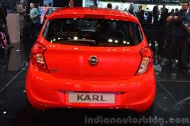 opel karl interior opel karl rear view at 2015 geneva motor show indian autos blog