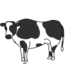 cow clipart black and white clipartxtras