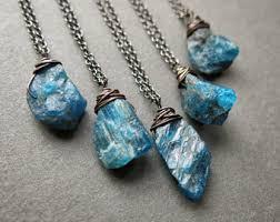 gemstone necklace pendant images Raw crystal pendant etsy jpg