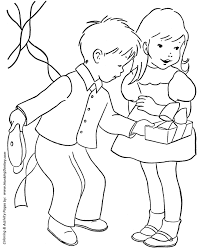 birthday coloring pages free printable kids birthday present