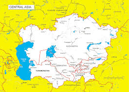 Asia On Map by Central Asia Maps