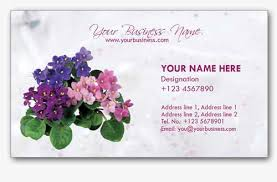 4 stylish florist business cards templates best business card