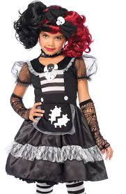 zombie rag doll girls costume kids deluxe doll halloween costume
