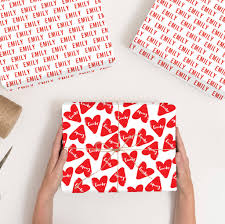 heart wrapping paper personalised heart wrapping paper by abigail warner