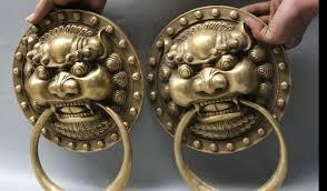 foo lion statue zhmui88006221 12 brass fu lion foo dog statue zhao