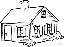 drawing a house small house in the village coloring page free printable coloring