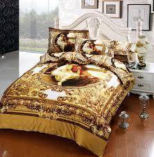 luxury european royal oil painting 3d printed bedding set