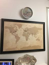 Push Pin Map Vintage World Travel Map Push Pin Travel Maps