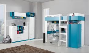 lit armoire bureau combiné lit enfant bleu et blanc avec bureau armoire et dressing