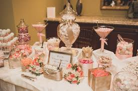 rose gold candy table pink and blush tones candy bar lili s quince pinterest