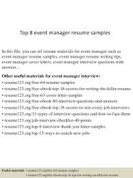 Events Manager Resume Sample Resume Template Free by Sample Resume For Event Manager Gallery Creawizard Com