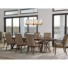 zavala loggia rectangular double pedestal dining table set