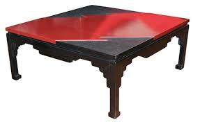 red and black coffee table black and red lacquer coffee table naga antiques