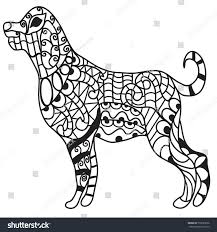 coloring page of a big dog drawing big dog standing coloring page stock illustration 779693566