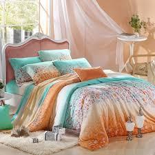 blue and orange bedding orange king size comforter sets 199 99 aqua blue and tribal
