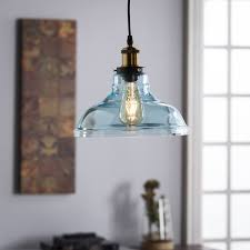 glass bell pendant light harper blvd gracie colored glass bell pendant l soft aqua