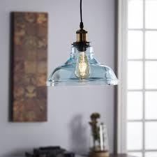 Aqua Pendant Light Harper Blvd Gracie Colored Glass Bell Pendant Lamp Soft Aqua