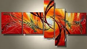 buy modern abstract ready to display stretched canvas oil painting