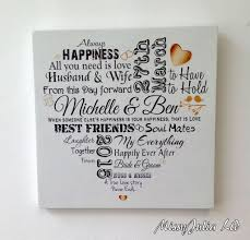 wedding anniversary plaques anniversary personalised typography wooden plaque sign keepsake