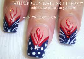 robin moses nail art fourth of july nails 4th of july nails 4th