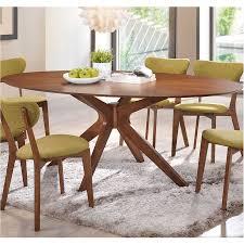balboa modern oval dining table in walnut eurway