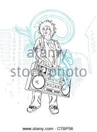 man with boombox stock photo royalty free image 24826625 alamy